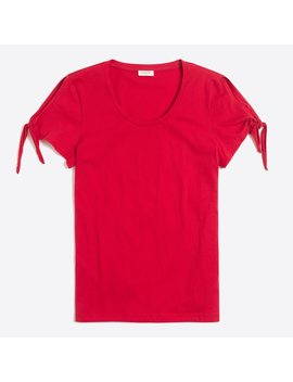 Tie Shoulder T Shirt by J.Crew