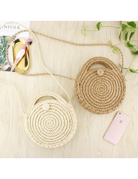2018 Brand Women Beach Straw Bags Summer Mini Vintage Handmade Crossbody Shoulder Bags Female New Purses Handbags Ladies Totes by Sheflyto