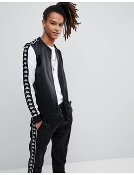 Kappa Poly Tricot Banda Track Jacket In Black by Kappa