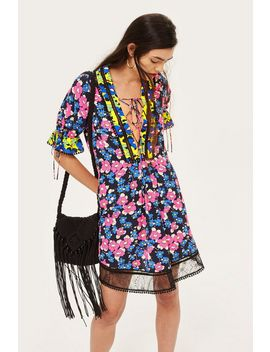 Floral Print Mini Shift Dress by Topshop
