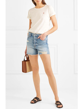 Whisper Embroidered Slub Cotton Jersey T Shirt by Madewell