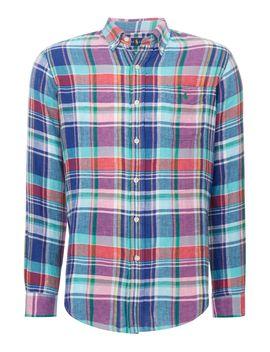 Custom Fit Linen Checked Shirt by Polo Ralph Lauren