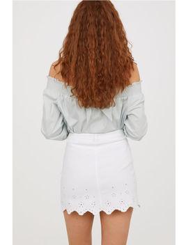 Denim Rok Met Golvende Rand by H&M