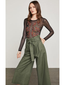 Floral Embroidered Sheer Bodysuit by Bcbgmaxazria