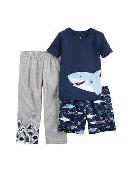 Toddler Boy Carter's 3 Pc. Sharks Pajama Set by Kohl's