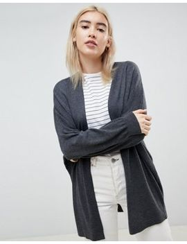 Asos Design  Eco Cardigan In Oversize Fine Knit by Asos Design