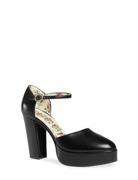 Agon Ankle Strap Platform Pump by Gucci