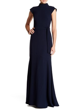 Backless Mock Neck Gown by Monique Lhuillier