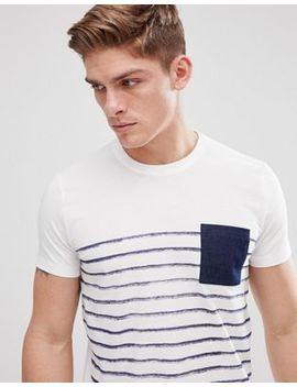 Esprit T Shirt With Stripe And Contrast Pocket by Esprit