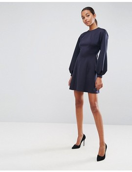 Asos Mini Skater Dress With Balloon Sleeves by Asos Collection