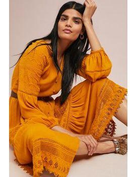 Golden Peasant Dress by Seen Worn Kept