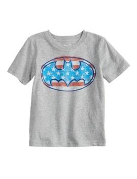 Toddler Boy Jumping Beans® Dc Comics Batman Logo Patriotic Graphic Tee by Toddler Boy Jumping Beans