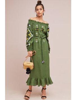 Clarisse Off The Shoulder Peasant Dress by Vyshyvanka By Sleeping Gypsy