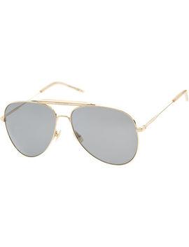 Gold Tone Aviator Sunglasses by Saint Laurent