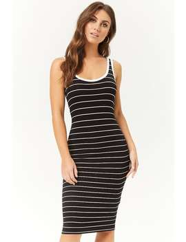 Striped Midi Tank Dress by Forever 21