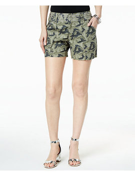 I.N.C. Studded Camo Print Shorts, Created For Macy's by Inc International Concepts