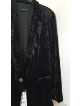 Zara Black Velvet  Mulberry Silk Blend Blazer Jacket Size S Uk 8  Rrp £89.99 by Ebay Seller