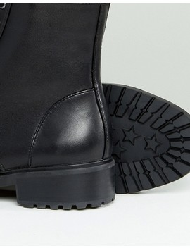 Steve Madden   Officer   Bottines Plates En Cuir à Lacets by Steve Madden