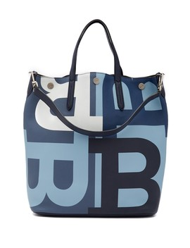 Logo Colorblock Leather Tote Bag by Bally