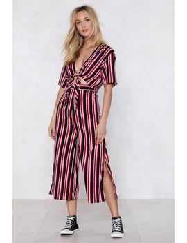 Get Straight To It Striped Crop Top And Pants Set by Nasty Gal