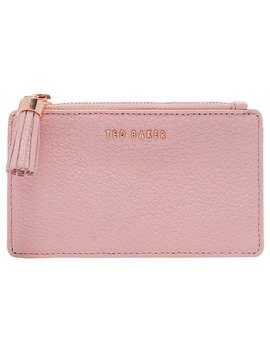 Ted Baker Sydnee Leather Zipped Card Holder, Dusky Pink by Ted Baker
