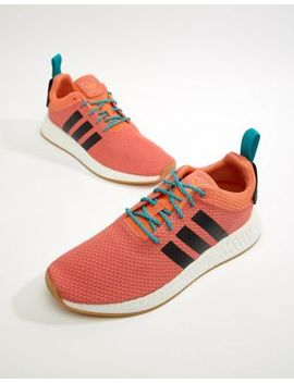 Adidas Originals Nmd R2 Summer Boost Sneakers In Orange Cq3081 by Adidas Originals