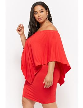 Plus Size Layered Off The Shoulder Dress by Forever 21