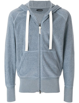 Zipped Hoodie Jacket Home Men Clothing Hoodies by Tom Ford