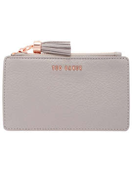 Ted Baker Sydnee Leather Zipped Card Holder, Charcoal by Ted Baker