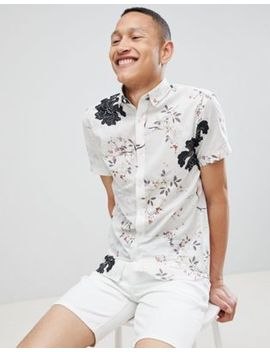 Selected Homme Slim Short Sleeve Shirt With Bird Print by Selected Homme