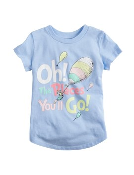 "Toddler Girl Jumping Beans® Dr. Suess ""Oh The Places You'll Go"" Graphic Tee by Toddler Girl Jumping Beans"
