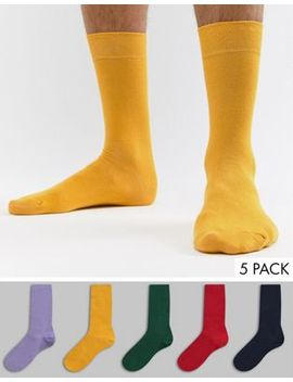 River Island Socks In Bold Multi Color 5 Pack by River Island