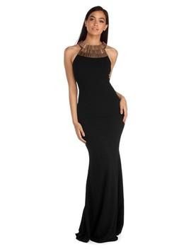 Belle Geometric Metal Formal Dress by Windsor