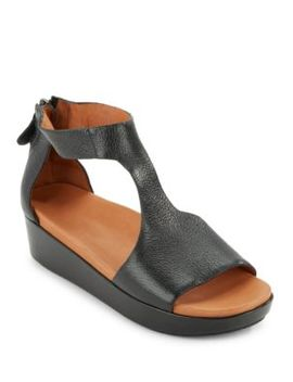 Jefferson Platform Leather Sandals by Gentle Souls