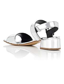 Specchio Leather Slingback Sandals by Barneys New York