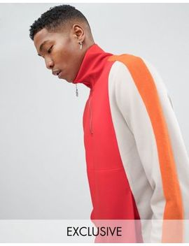 Noak Half Zip Sweatshirt With Funnel Neck by Noak
