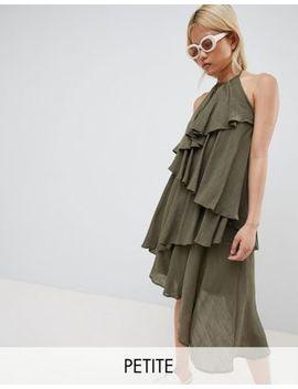 Vero Moda Petite Ruffle Halter Neck Dress by Vero Moda Petite
