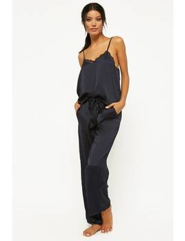 Lace Trim Pajama Set by Forever 21