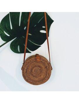 Bali Bag Round Rattan Bag Basket Bag Wicker Straw Bloggers Circle Crossbody by Ebay Seller