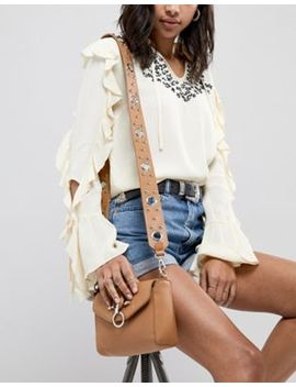 Glamorous Tan Cross Body Bag With Hardware & Eyelet Detail by Glamorous