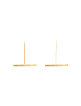 10k Yellow Gold Plated Small Beam Earrings by Beaufille