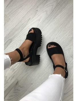 Chunky Platform Sandals   Black by Aj | Voyage