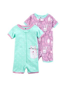 Toddler Girl Carter's 2 Pack Cat Rompers by Kohl's
