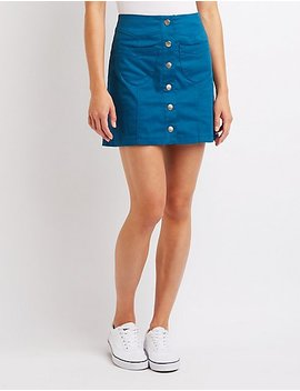 Button Up Skirt by Charlotte Russe