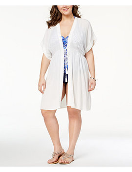Plus Size Crinkle Cover Up by Lauren Ralph Lauren