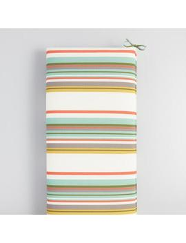 Oasis Stripe Outdoor Bench Cushion by World Market