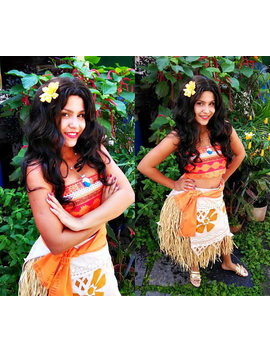 Moana Costume Disney Custom Cosplay Comission Seam   Under Measure by Etsy