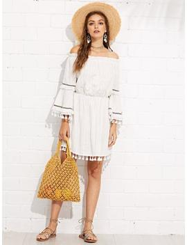 Woven Design Cut Out Tote Bag by Sheinside