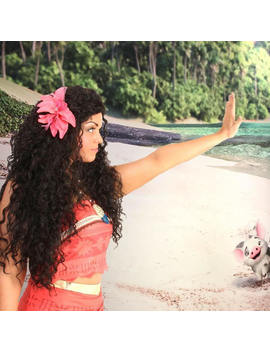 Moana Adult Costume Wig Double Thick Version   A True Enchantment Original by Etsy