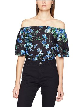 Warehouse Women's Full Bloom Woven Bardot Blouse by Amazon